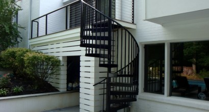 Outdoor Spiral Stairway Addition; Outdoor Grilling & Recreation Area