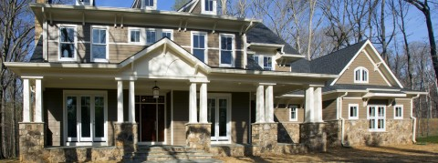 Front Portico Exterior View