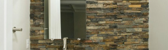 Powder-Room Stonework Detail