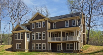 Transitional Home Exterior View